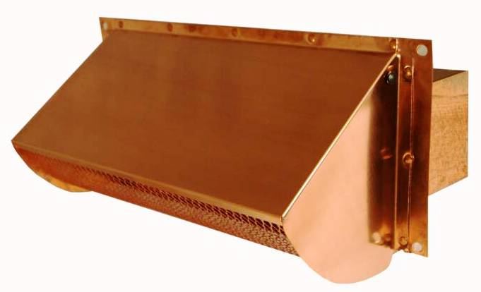 copper microwave range vent