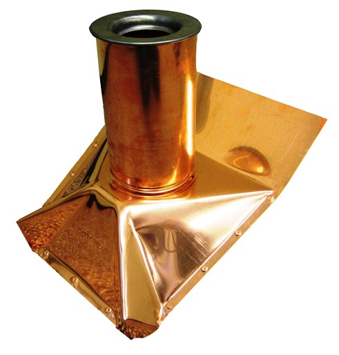 copper roof boot cover