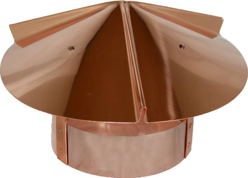 copper chimney cap for round connection