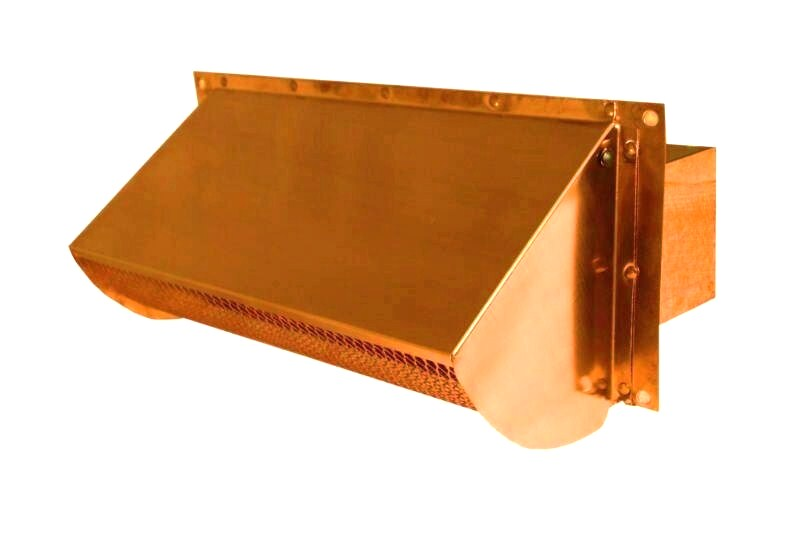 copper range hood vent for exterior wall