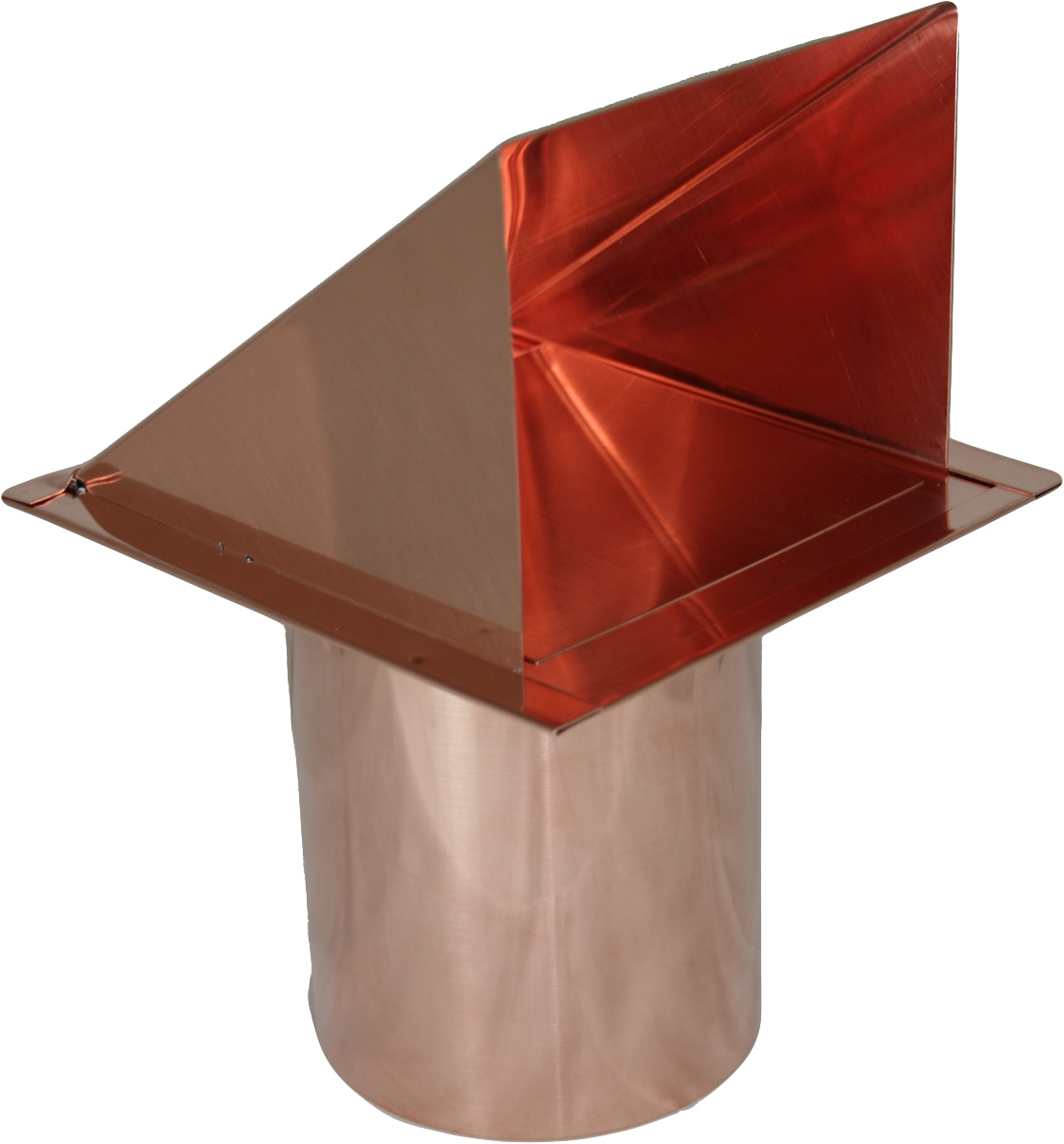 copper 4 inch dryer vent cap with damper