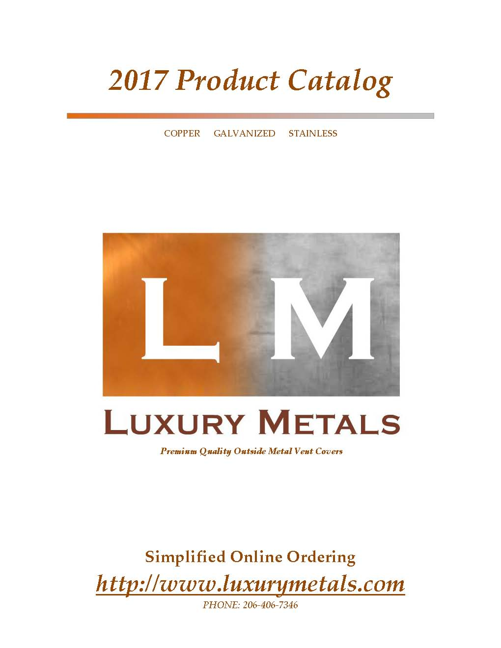 Luxury Metals Product Catalog