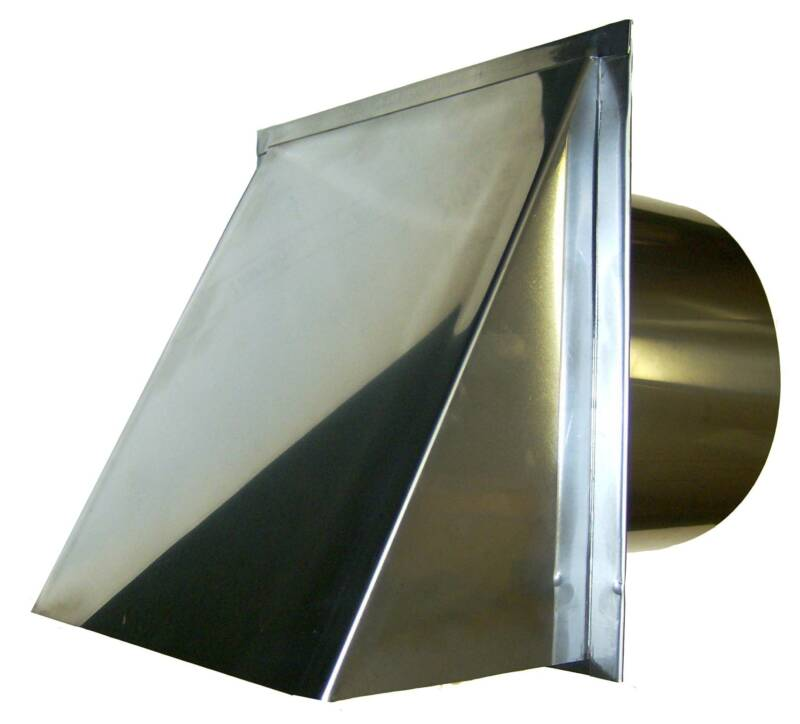 stainless wall exhaust vent