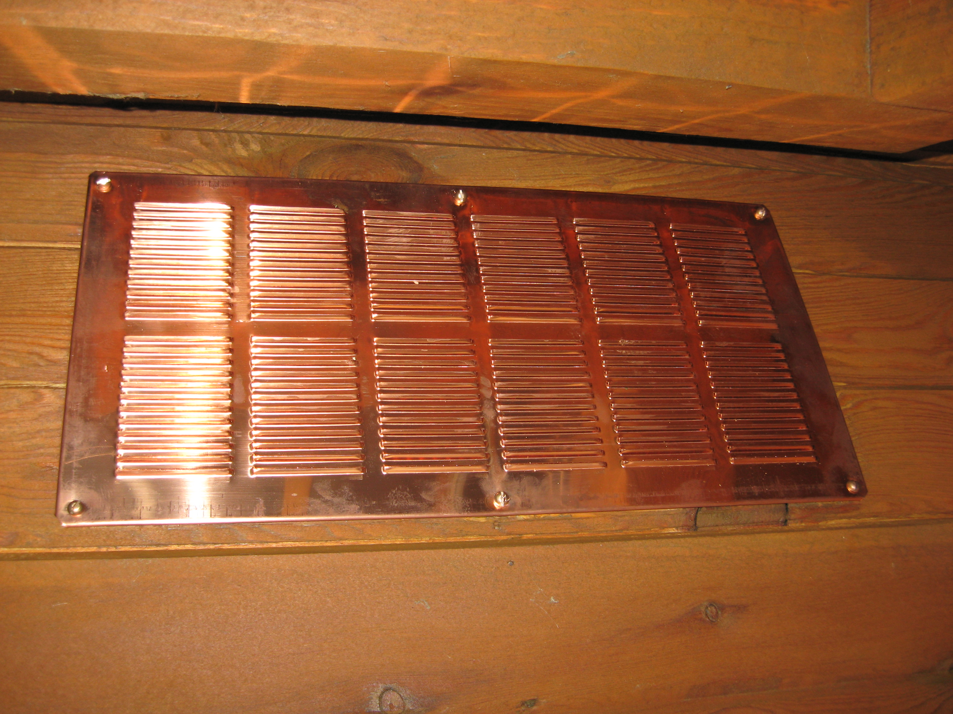 Copper Soffit And Eave Vents
