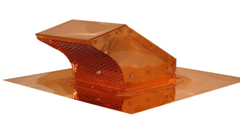 copper roof range exhaust cap with flapper