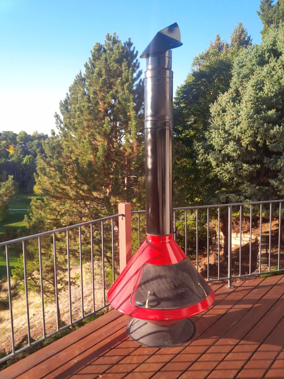 outdoor fireplace chimney cap